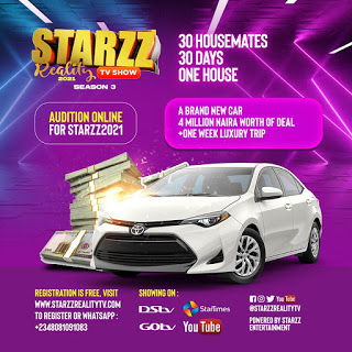 STARZZ REALITY TV SHOW 2021 (Season 3) Is Here