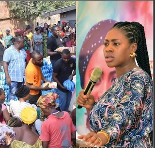 Meet Popular Nigerian Prophetess, A Multidimensional Philanthropist, As She Slashed Million On Less Privileged In Nassarawa, See Video